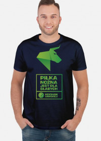 PIŁKA NOŻNA JEST DLA SŁABYCH -  kocham unihokej Koszulka męska