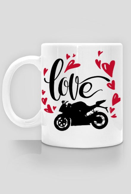 Love + motorbike - Kubek motocyklowy