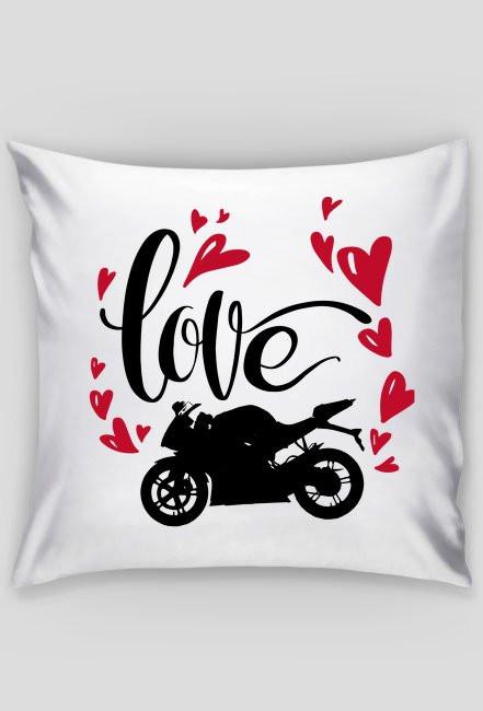 Love + motorbike - poduszka motocyklowa