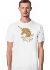 Koszulka z jednorożcem męska - Złoty jednorożec