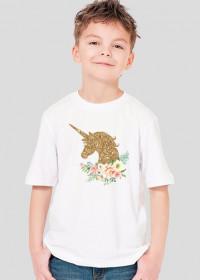 Koszulka z jednorożcem dla chłopca - Złoty jendorożec