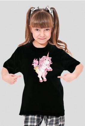Koszulka z jednorożcem dziewczynka - Różowy jednorożec
