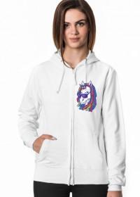 Bluza z jednorożcem damska - Jednorożec z dredami