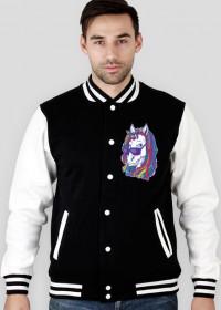 Bluza z jednorożcem dwukolorowa - Jednorożec z dredami