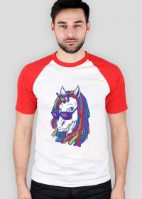 Koszulka baseball z jednorożcem - Jednorożec z dredami