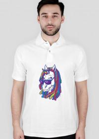 Koszulka polo z jednorożcem - Jednorożec z dredami