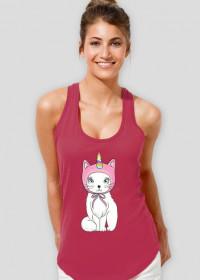 Bokserka damska z jednorożcem-kotem