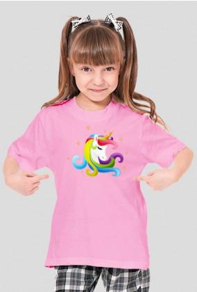 Koszulka z jednorożcem dziewczęca - Głowa jednorożca