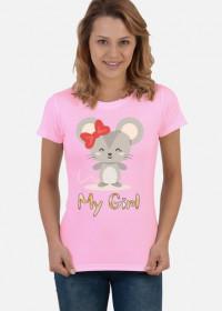Koszulka My Girl myszka