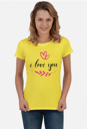 Koszulka I Love You damska