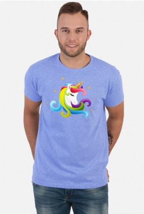 Koszulki z nadrukiem dla chłopaka - Głowa jednorożca
