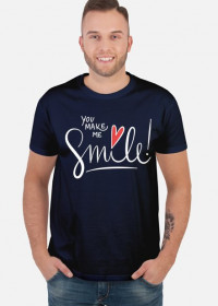 Koszulka You Make Me Smile czarna