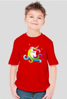 Ubrania jednorożec - Koszulka chłopięca z jednorożcem