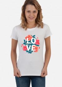 Koszulka LOVE kawiaty