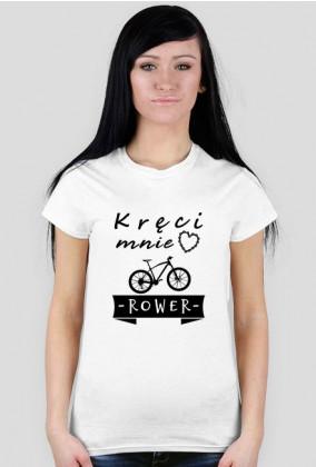 """Koszulka Rowerzystki """"Kręci mnie Rower"""" Jasne Kolory"""