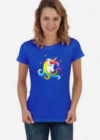 Artystyczne t-shirty - T-shirt jednorożec głowa