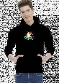 Ciekawe bluzy - Bluza męska z jednorożcem