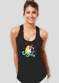 Koszulka bokserka damska z jednorożcem
