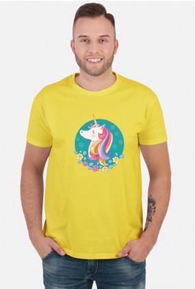 Koszulki nadruk - Jednorożec w okręgu