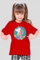 T-shirt dziewczęcy - Jednorożec w okręgu