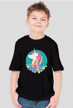 T-shirt chłopięcy - Jednorożec w okręgu