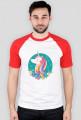 Koszulka bejsbolowa - Jednorożec w okręgu