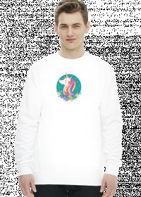 Męskie bluzy - Bluza z jednorożcem w okręgu