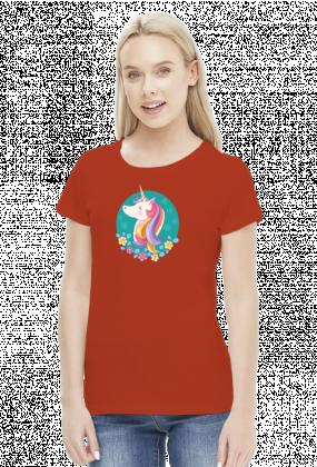 Koszulki z ciekawym nadrukiem - Jednorożec w okręgu
