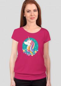 Najlepsze t-shirty - T-shirt z jednorożcem w okręgu