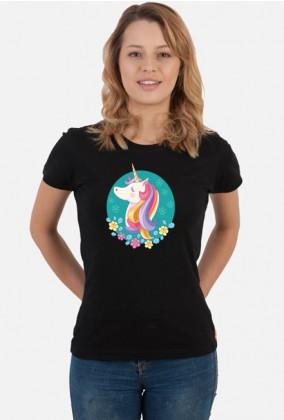 Koszulki shirt - Koszulka z jednorożcem w okręgu