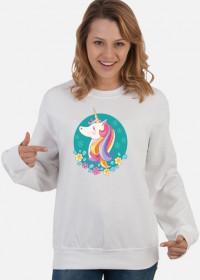 Bluzy dla dziewczyn - Jednorożec w okręgu