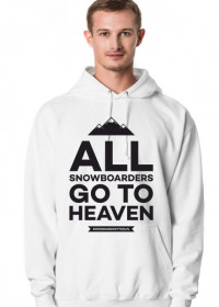 ALL SNOWBOARDERS GO TO HEAVEN - Bluza męska z kapturem