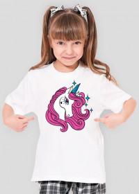 Koszulka dla dziewczynki z jednorożcem z gwiazdkami
