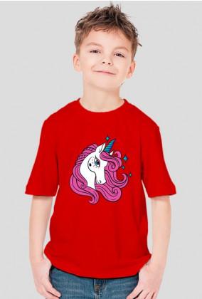 Koszulka dla chłopca z jednorożcem z gwiazdkami