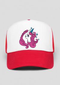 Damskie czapki z daszkiem - czapka z jednorożcem z gwiazdkami