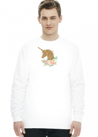 Bluzy męskie bez kaptura - Złoty jednorożec