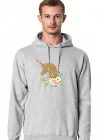 Bluza z kapturem - Złoty jednorożec