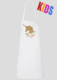 Fartuszek kuchenny dla dziecka - Złoty jednorożec
