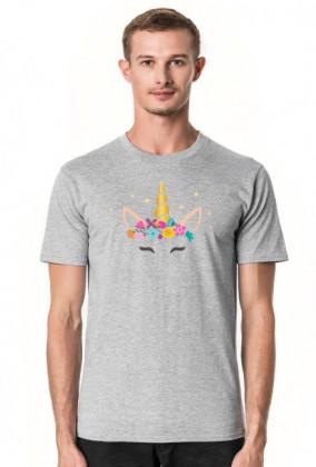 Koszulki z nadrukiem dla mężczyzn - Jednorożec ze złotym rogiem