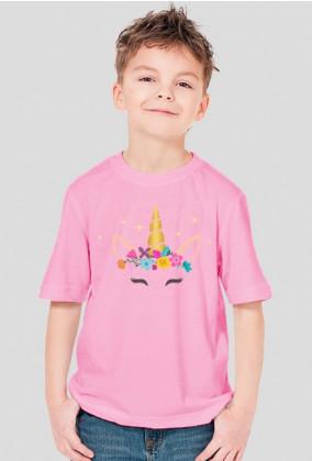 Koszulki dzięciece - Jednorożec ze złotym rogiem