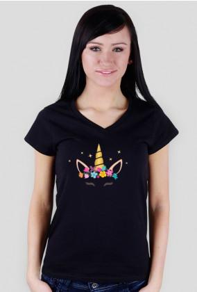 Koszulki z fajnym nadrukiem - Jednorożec ze złotym rogiem