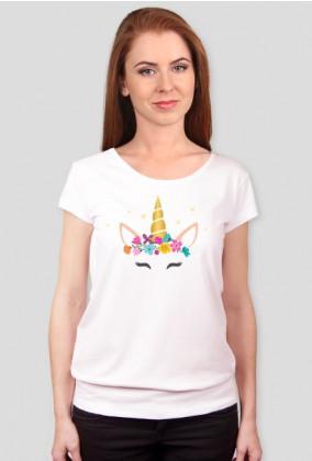 Koszulki dla kobiet - Jednorożec ze zlotym rogiem