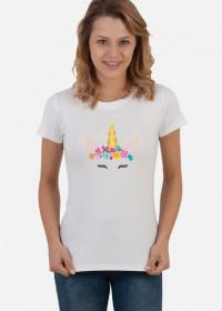 Odjazdowe koszulki - Jednorożec ze złotym rogiem