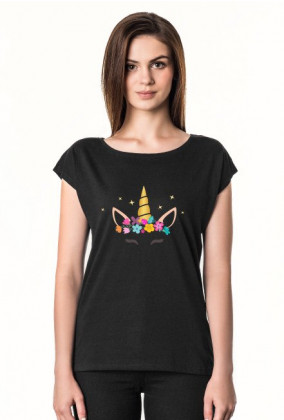 Shirty damskie - Jednorożec ze złotym rogiem