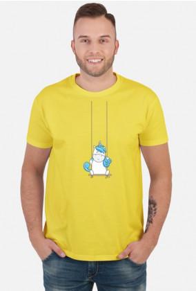 Twoja koszulka - Jednorożec na huśtawce
