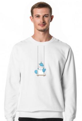 Bluza męska - Jednorożec na huśtawce