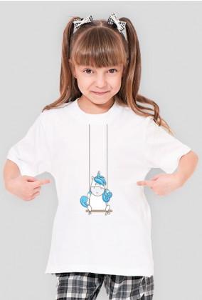 Koszulki dla dzieci - Jednorożec na huśtawce
