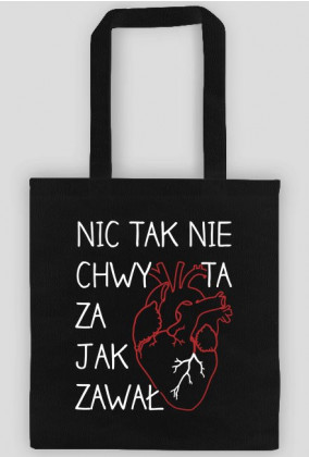 Zawal serca - torba czarna