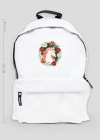 Plecak duży - Jednorożec w kwiatach