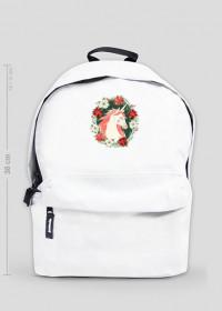 Plecak mały - Jednorożec w kwiatach